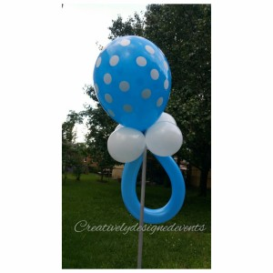 Blue Polka Dot Rattle