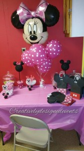 minnie cake table