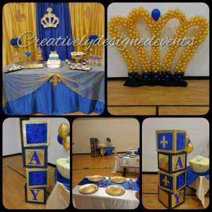 Royal Blue Shower